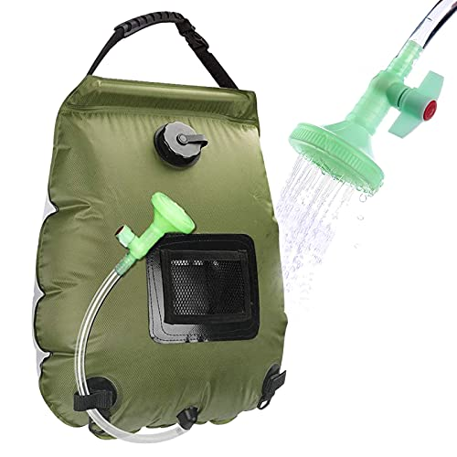 Beaucares Solar Shower Bag,5 Gallons/20L Portable Heating Camp Shower Bag with with...