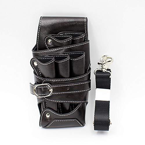 QLT BETY Barber Tool Bag Leather Retro Large Salon de Coiffure Professionnel Ciseaux Poche Sacs à la Taille