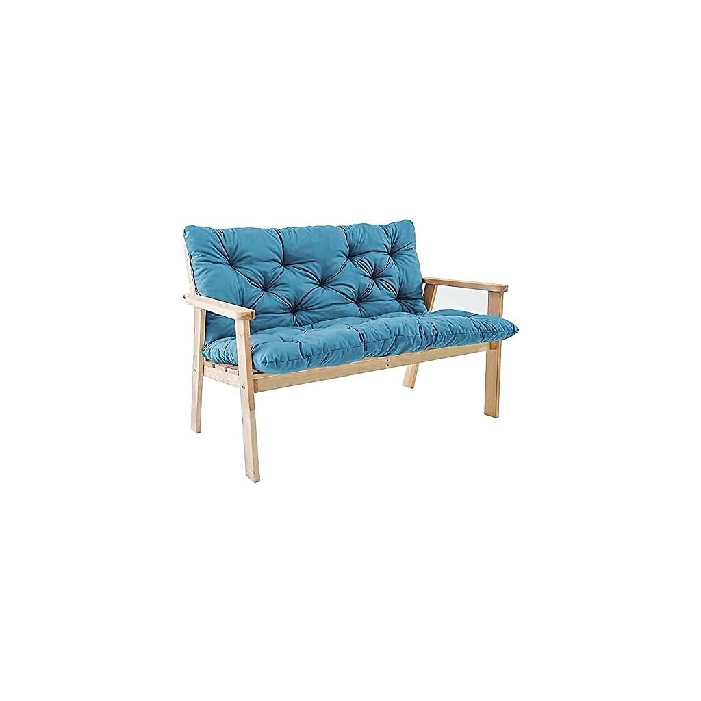 XRDSHY Coussin de banc de jardin extra épais avec dossier, 2–3 places, confortable, pour balancelle d'extérieur, meubles…
