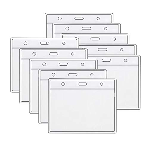 3/5/10 pcs Health Card ID Protective Case Waterproof PVC Soft Card Case Protector 4 X 3 in Health Card Name Tag Badge Cards Holder Clear Plastic Sleeve with Waterproof Type Resealable Zip (10pcs)