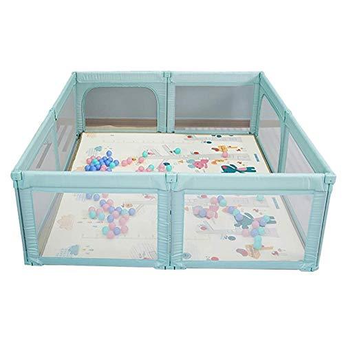 Parque para bebé grande de 8 paneles con tapetes, valla plegable de...