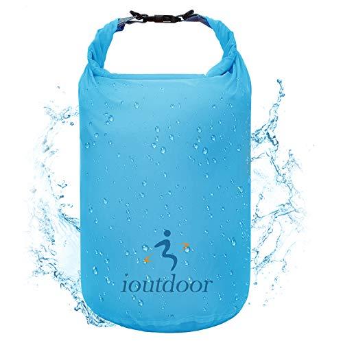 ioutdoor Ultra-Light Dry Bag, wasserdichte Tasche Trockensack Kompressionssack 2L / 5L / 10L / 20L / 40L / 70L, Wasserdicht, Abriebfest, Reißfest, für Wassersport, Camping, Reisen (Blau, 70L)