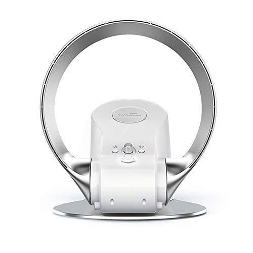 Ventilador con enfriador de aire, ventilador multifuncional de escritorio montado en la pared, aire acondicionado sin cuchilla de enfriamiento frío, control portátil portátil de 3 velocidades,Plata