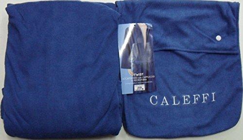 Caleffi Twist Badjas van microvezel met opbergzak Small blauw