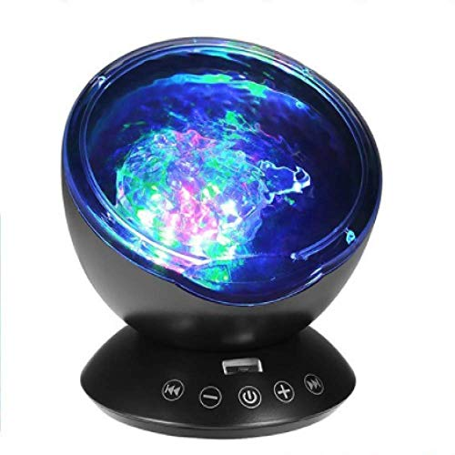 Wave Music Projector, Led Night Light, Children's Room Baby Projection Lamp, Can Direct The Light Directly Or Point to Different Directions As Needed, Perfect for Any Holiday Party Decoration