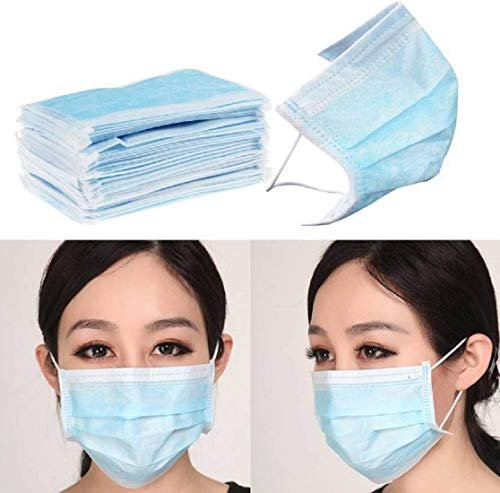 DHAYAN Anti-Pollution Dust Nose Mask 3 Ply Disposable Mouth Masks Nose Mask Dust Mask Pollution Mask (Pack of 10)