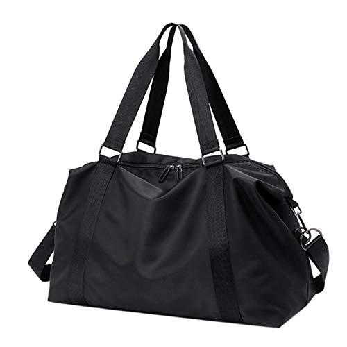 AVAVSAGS Unisex Travel Bag Waterproof Large Lightweight Hand Luggage Weekender Handbag Travel Luggage Yoga Fitness Sports Bags D-black-b