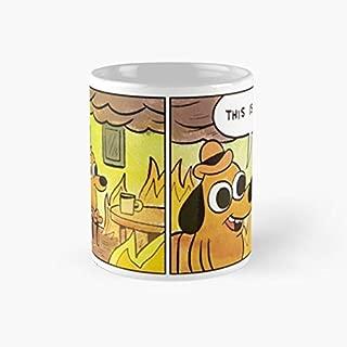gocontigo - This is fine Mug 11 Oz White Ceramic