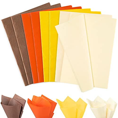 Fall colored tissue paper