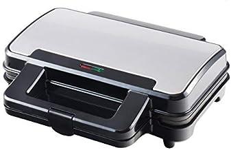 Venga! VG SM 3007 Sandwichmaker - 900 W, roestvrij staal, metaal, kunststof, zwart
