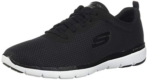 Skechers Women\'s FLEX APPEAL 3.0 Trainers, Black (Black White BKW), 6 UK 39 EU