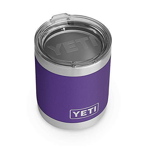 YETI Rambler 10 oz Lowball, Vacuum Insulated, Stainless Steel with Standard Lid, Peak Purple