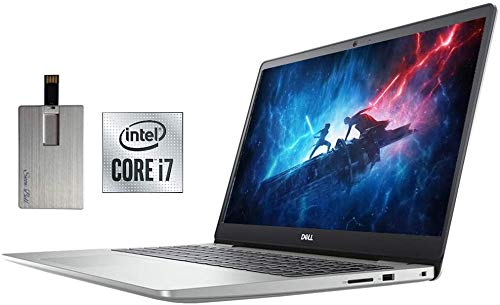 2020 Dell Inspiron 14' FHD Laptop, Intel Core i7-1065G7 Processor, 32GB DDR4 RAM, 2TB SSD, Intel Graphics, Backlit Keyboard, MaxxAudio Pro, HD Webcam, HDMI, Win 10, Silver, 32GB SnowBell USB Card