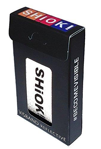 SHIOK! Visband (43 x 3,5 cm), zwart reflecterende band geschikt voor elke sport