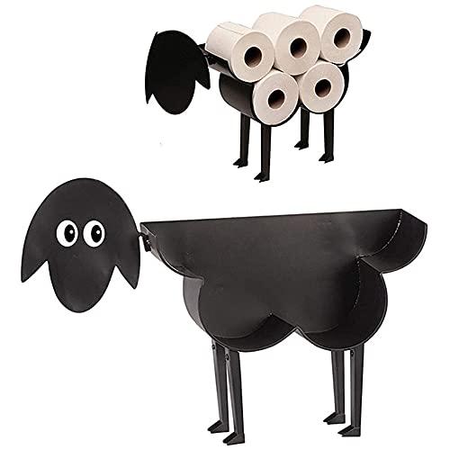 DJG Porta Rotolo di Toilette per Pecore, Metallo A Parete O Bagno in Camera per Il Bagno Deposito Tessuto Assemblato Antiscivolo per Bagno Decorazione Domestica Regalo