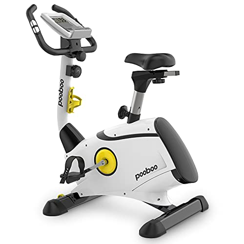 Exercise Bike, L NOW Indoor Cycling Bike, Belt Drive Stationary Bike, Magnetic Resistance Upright Bike With LCD Display for Home Office Cardio Workout Bike Training
