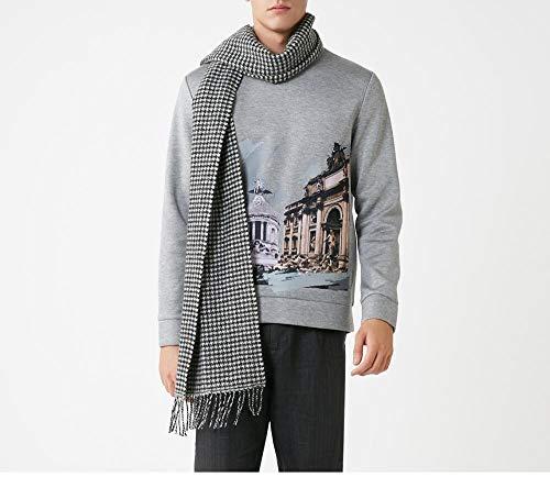 Sjaal van pure wol, Pied de Poule, warm en lang