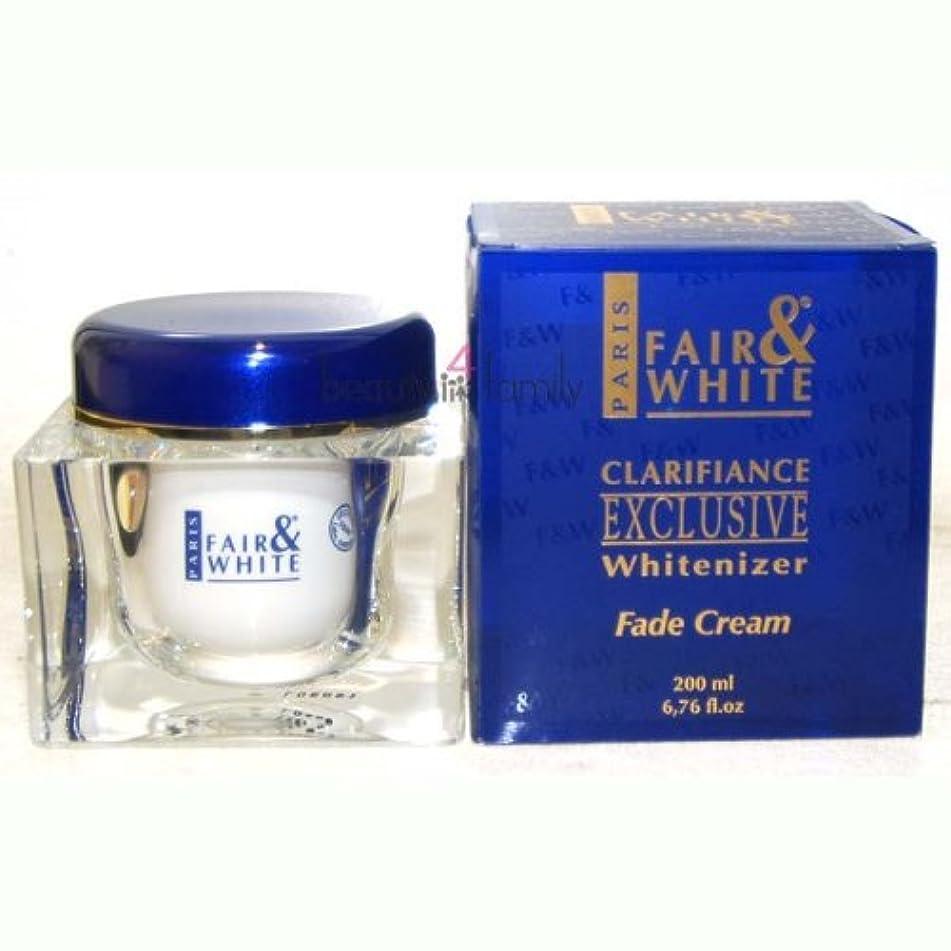 Fair & White Exclusive Fade Face & Body Cream with 1.9% Hydroquinone, 200ml / 6.76fl.oz. (Improved Formula)
