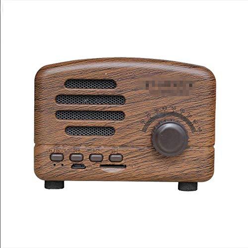 SBDLXY Radio Retro Altavoz Bluetooth Radio Retro Tarjeta inalámbrica Compatibilidad Fuerte Fácil de Llevar Uso Fácil de Llevar Negro