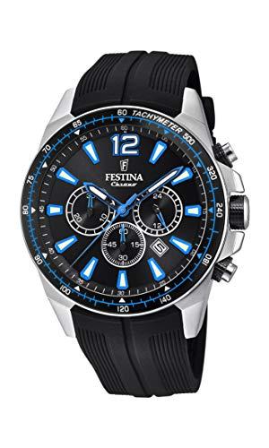 Festina Herren Chronograph Quarz Smart Watch Armbanduhr mit PU Armband F20376/2