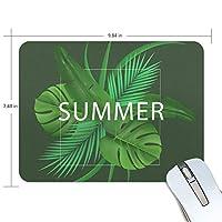 熱帯のヤシの葉 マウスパッド 滑り止めゴム製裏面 おしゃれ 厚くした 事務用のマウスパッド 携帯用 25X19CM
