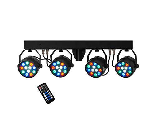 EUROLITE LED KLS PARty Kompakt-Lichtset | Kompaktes LED-Scheinwerferset inklusive Transporttasche