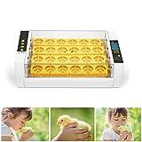 PAKASEPT Incubadora Digital de Huevos Incubadora para Múltiples Tamaños de Huevos 24 Huevos Uso Doméstico, con control de humedad y temperatura y Giro Automático