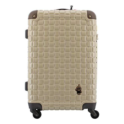 [ムーミン] スーツケース 57L 56cm 3.5kg MM2-028 MOOMIN ハード ファスナー キャリーケース TSAロック搭載 エキスパンダブル 拡張 キャラクター ストッパー ベージュ