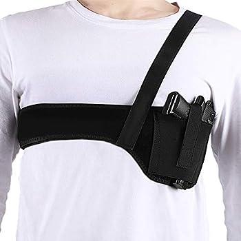 Deep Concealment Shoulder Holster Accmor Universal Underarm Gun Holster for Men and Women Breathable Neoprene Concealed Carry Holster Waistband Belt