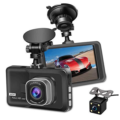 """Caméra de Voiture, Dashcam Voiture Avant et Arrière Full HD 1080P Caméra Enregistreur de Conduite avec 3"""" Écran IPS Tactile, Grand Angle 170°, WDR, G-Capteur, Détection de Mouvement"""