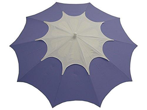Maffei Art 35 FLOS. Parasol de Design, Rond, diamètre cm. 250 avec cheminée. BREVETE Fabriqué en Italie. Coluleur Lavande/cheminée Blanc