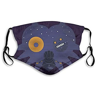 Zelda Majora's Mask Mask with Replaceable Filter Reusable Washable Face Covering Small