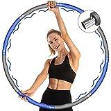 AKASO Hoop Reifen Erwachsene Hula Reifen Hoop von 1.2 bis 3.2kg mit Gewicht Aktualisierung Stabiler Edelstahlkern/Wellendesign, Fitness Reifen Abnehmbarer 8 Segmente