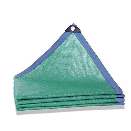 Gqq Toile d'ombrage 80% toile d'ombrage Toile d'ombrage verte, avec passe-fil, utilisée pour la couverture de pergola Épaississement de la pluie jardin épais, balcon, abri d'auto, filet d'ombre de g