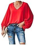 Botanmu Tamaño Extra Suelto de Mujer Camiseta de Manga Larg