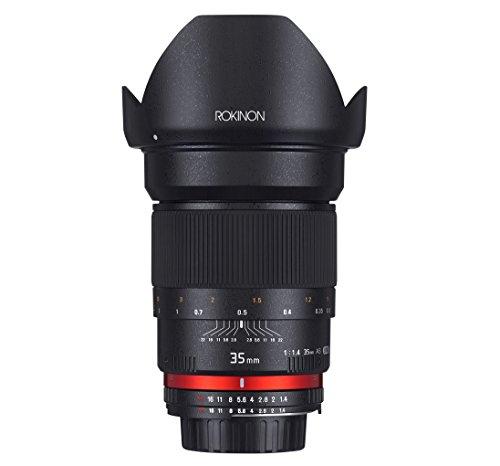 Rokinon 35mm F1.4 AS UMC Wide Angle Cine Lens for Sony E-Mount (NEX) (RK35M-E)