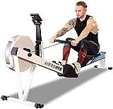 Máquina de remo, Cadena de acero de control magnético de resistencia al viento, Máquina de remo de resistencia Brazo abdominal para el pecho Equipo de fitness aeróbico adecuado para ejercicio físico