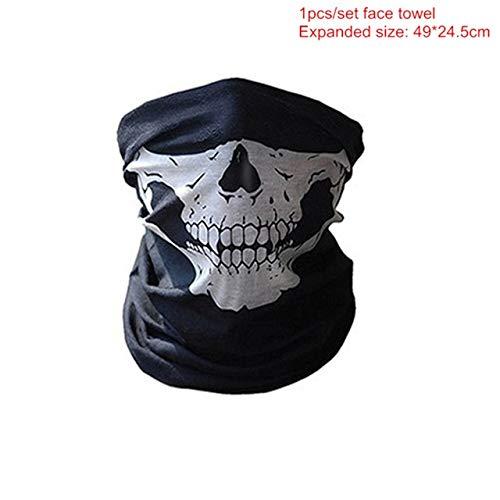 WSJDE Halloween Party Maske 1 Teile/Satz V Wie Vendetta Maske Bape Vollgesichtsmaske Anonym Guy Fawkes Kostüm Zubehör, QWeiß 1 stücke