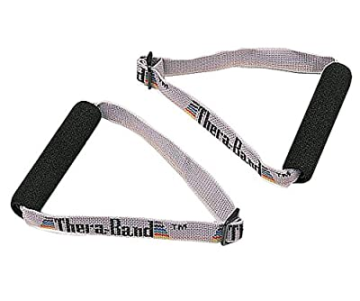 TheraBand Elastic Resistance Bands and Tubing Overdoor Accessories Kit, with Assist Strap, Soft Grip Handles, and Door Anchor for Overhead Shoulder Rehab, At-Home Physical Therapy, Upper Body Exercise