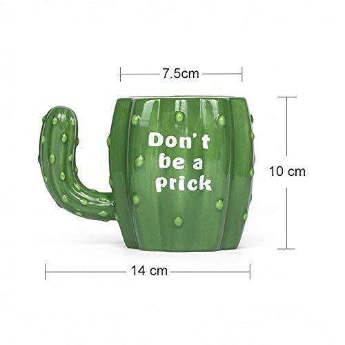 PUBSKFKJ330Ml Green Cactus Keramikbecher Mit Handgriff Lustige Kaffee Milch Tee Frühstück Tassen Neuheit Geschenke