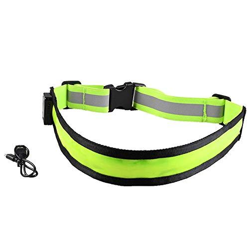 USB LED Recargable Reflectante de Alta Visibilidad cinturón de Engranaje de la Seguridad para Correr, Caminar y Ciclismo Adapta a Mujeres, Hombres y niños