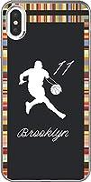 【230機種以上対応】 バスケ iPhone 12 mini pro Max Xperia Galaxy 楽天 UQ Yモバイル Android シルエット スマホケース カバー(アウェイ/ブルックリン:11番_A) ネッツ 198 楽天モバイル HUAWEI nova 5T
