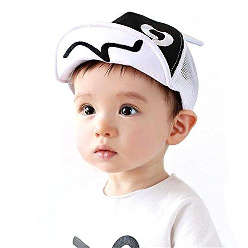 Vovotrade® Chapeau de chapeau d'été de Casquette Mesh Children Hat Summer Mesh Soft Brim Flanging Sun hat Baseball Cap 1-2year (White)