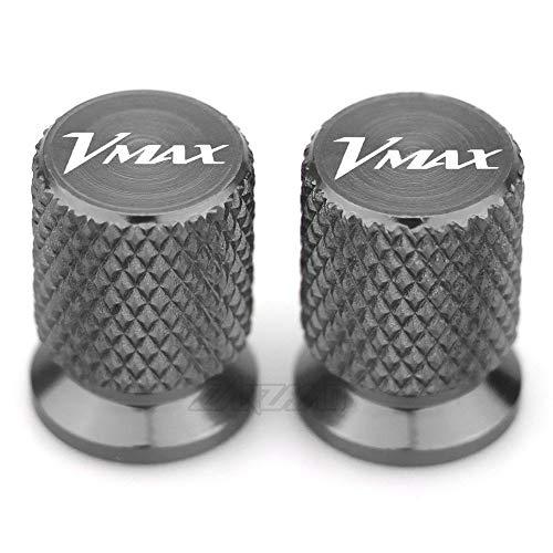 MUJUN Reserve VMAX Motorrad-Reifen-Ventil-Air Port Stem Abdeckkappe Stecker CNC Aluminium Zubehör for Yamaha VMAX 2012-2016 2017 2018 2019 2020 (Color : Titanium)