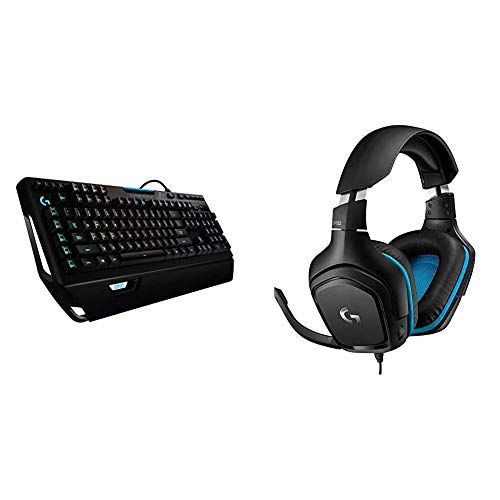 Logitech G910 Orion Spectrum mechanische Gaming-Tastatur, Taktile Romer-G Switches, RGB-Beleuchtung + Logitech G432 kabelgebundenes Gaming-Headset, 7.1 Surround Sound, DTS Headphone:X 2.0