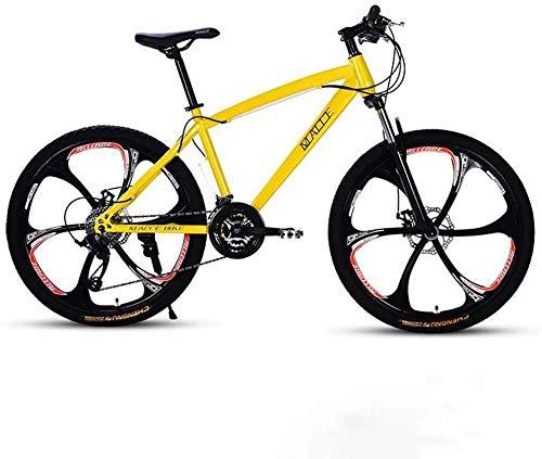 QJWY-Home Erwachsene 26 Zoll Fahrrad Strand Schneemobil Fahrrad Doppelscheibenbremse Fahrrad Aluminiumlegierungsräder Mann Frau Allzweck-Gelb 27 Geschwindigkeit