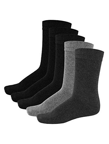 JACK und JONES Herren 5 Paar Jens Baumwolle Socken - Grau - One Size