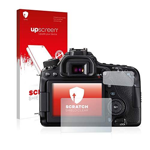 upscreen Schutzfolie kompatibel mit Canon EOS 80D – Kristallklar, Kratzschutz, Anti-Fingerprint