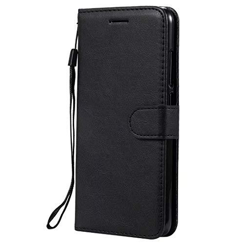 """HUANGTAOLI Cover per Samsung Galaxy A20e, Funzione Stand e Porta Carte Magnetica Portafoglio Custodia in Pelle (SM-A202F, SM-A202F/DS, 5.8"""")"""