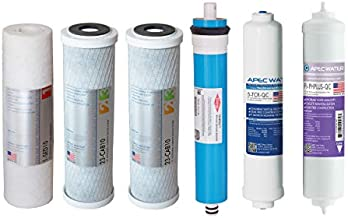 APEC FILTER-MAX-PH US MADE 90 GPD Complete Replacement Set for ULTIMATE Series Alkaline Reverse Osmosis Water Filter System
